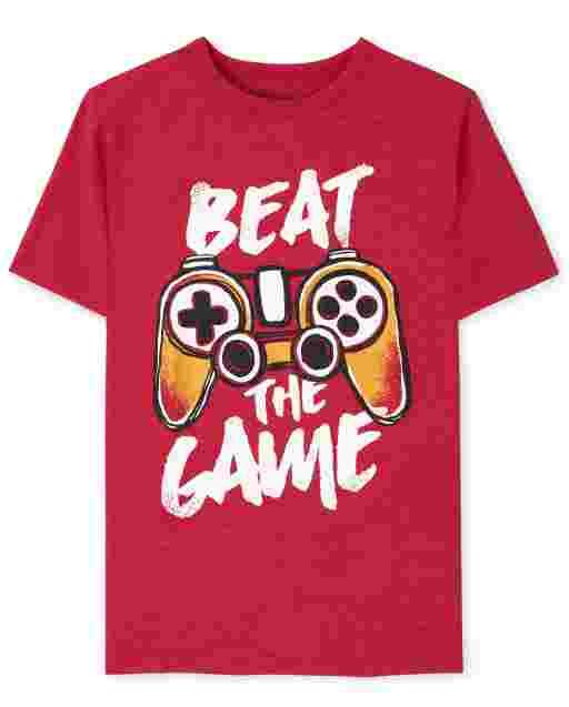 Camiseta gráfica Beat The Game de manga corta para niños