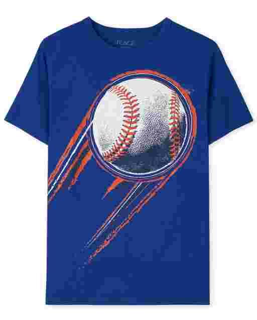 Boys Short Sleeve Baseball Graphic Tee