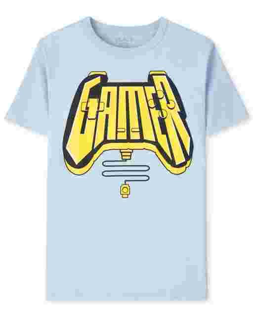 Boys Short Sleeve Gamer Video Game Graphic Tee