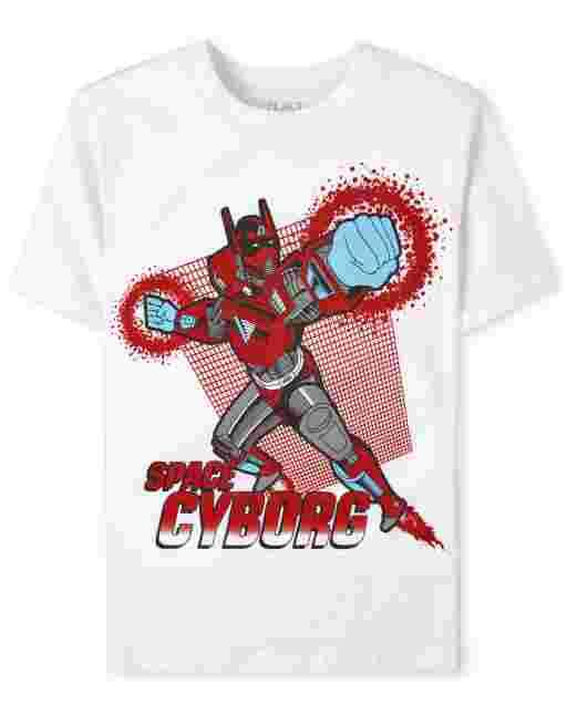 Boys Short Sleeve 'Space Cyborg' Graphic Tee