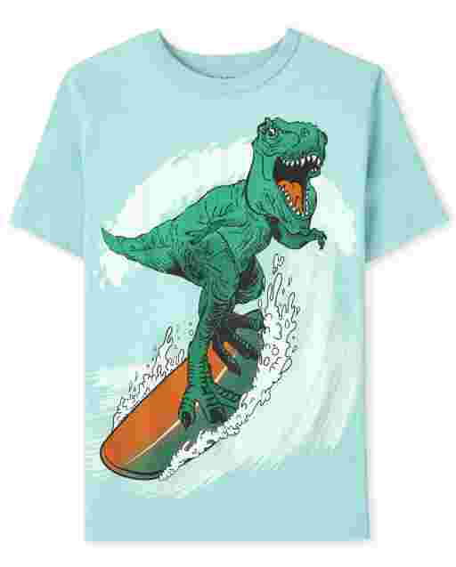 Boys Dino Surf Graphic Tee