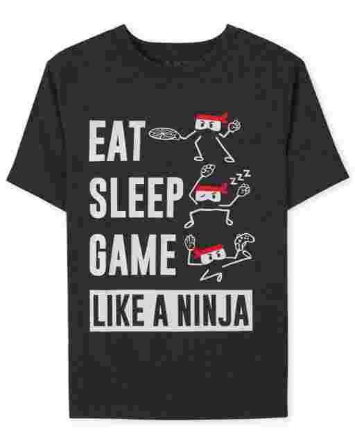 Boys Game Like A Ninja Graphic Tee