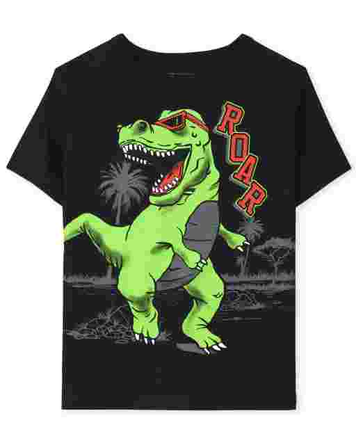 Baby And Toddler Boys Short Sleeve Dino Roar Graphic Tee
