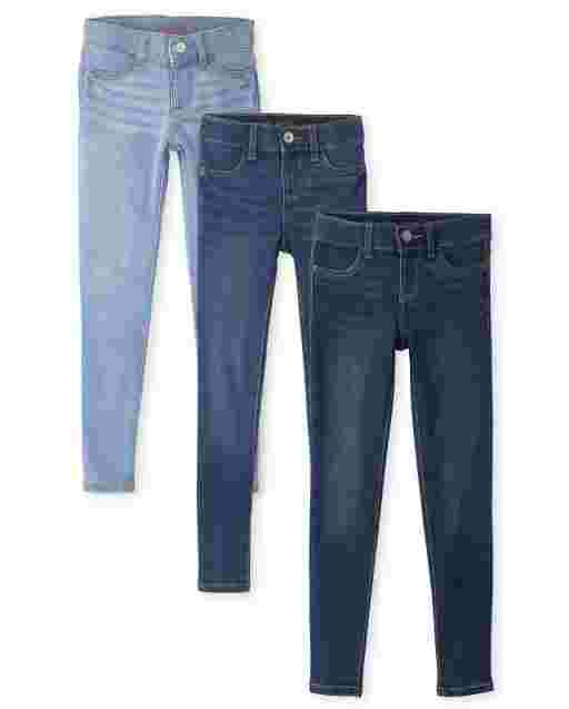Girls Super-Soft Stretch Denim Legging Jeans 3-Pack