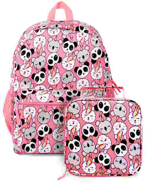 Girls Crittercorn Backpack And Lunch Box 2-Piece Set