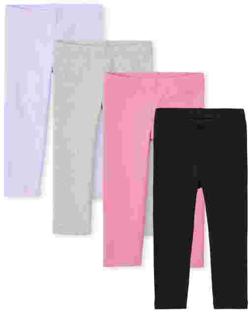 Toddler Girls Knit Leggings 4-Pack