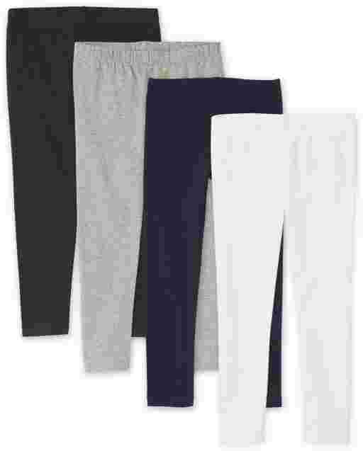 Girls Knit Leggings 4-Pack
