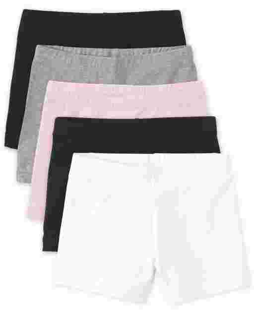 Girls Knit Cartwheel Shorts 5-Pack