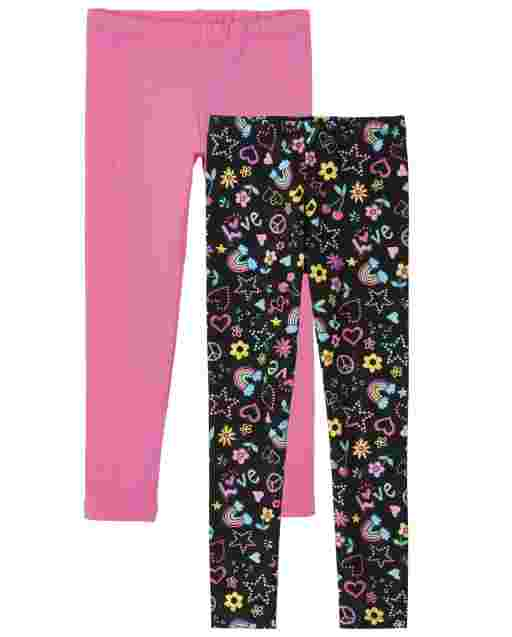 Girls Knit Leggings 2-Pack