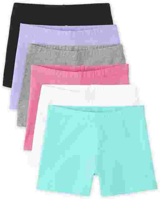 Girls Knit Cartwheel Shorts 6-Pack