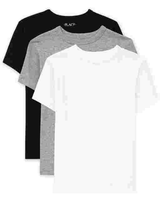 Boys Uniform Short Sleeve Basic Layering Tee 3-Pack
