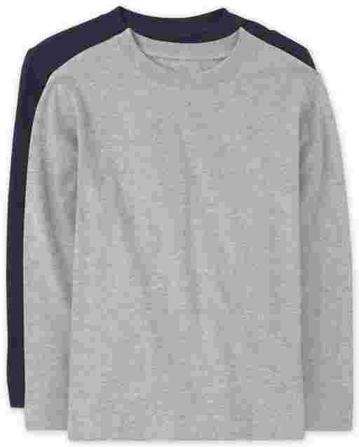Boys Long Sleeve Basic Layering Tee 2-Pack
