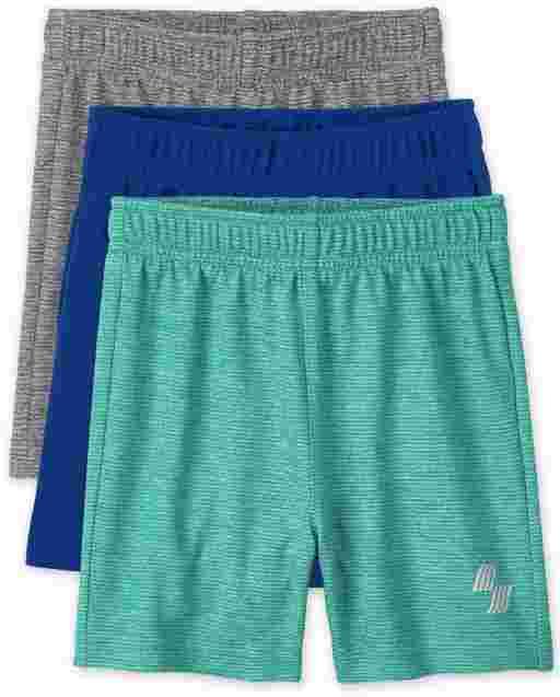 Pack de 3 pantalones cortos de baloncesto para bebés y niños pequeños