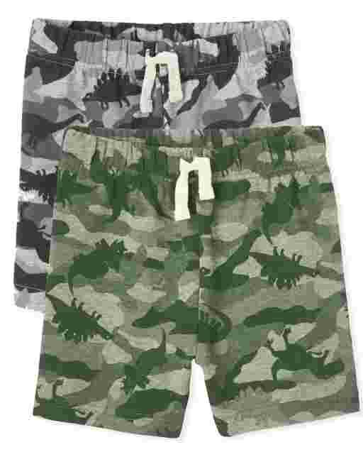 Pack de 2 pantalones cortos de felpa francesa para bebés y niños pequeños