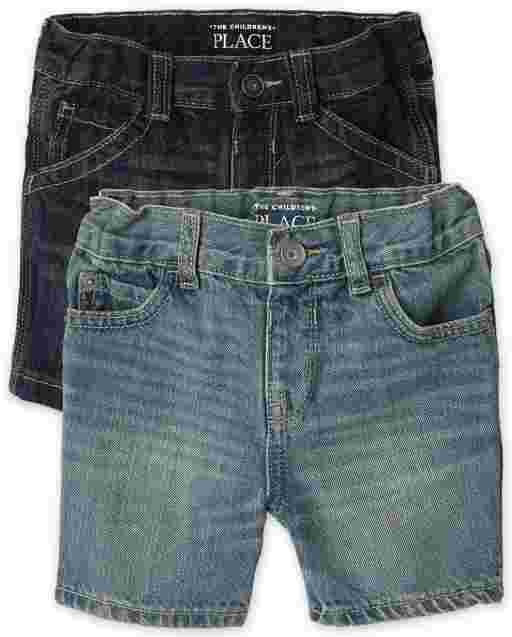 Baby And Toddler Boys Five-Pocket Denim Shorts 2-Pack