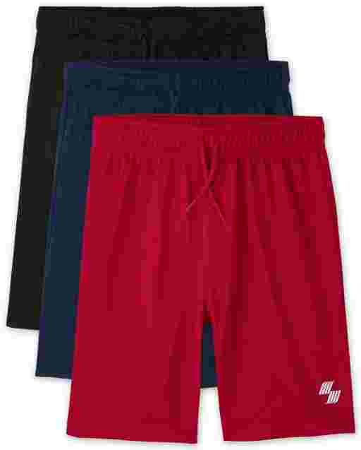 Boys PLACE Sport Knit Basketball Shorts 3-Pack
