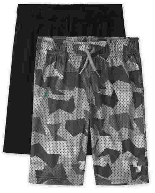 Boys PLACE Sport Print Performance And Knit Basketball Shorts 2-Pack