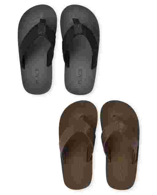 Boys Flip Flops 2-Pack