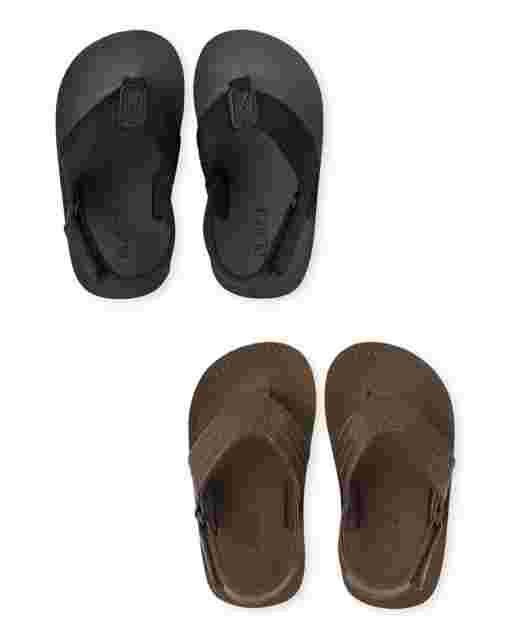 Toddler Boys Flip Flops 2-Pack