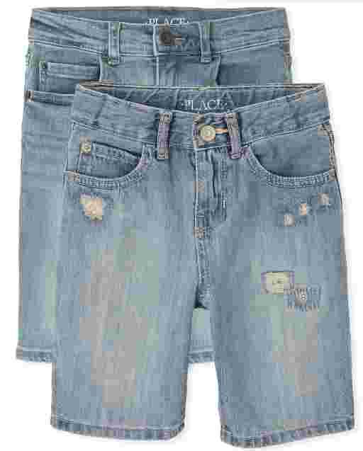 Boys Five Pocket Denim Shorts 2-Pack