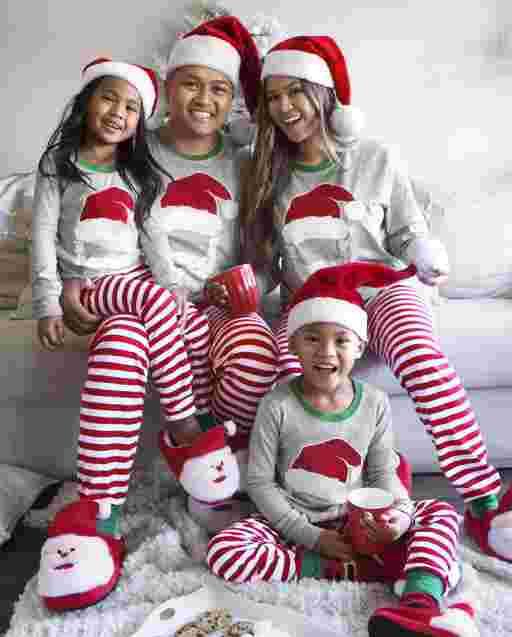 Matching Family Pajamas - Santa Striped Collection