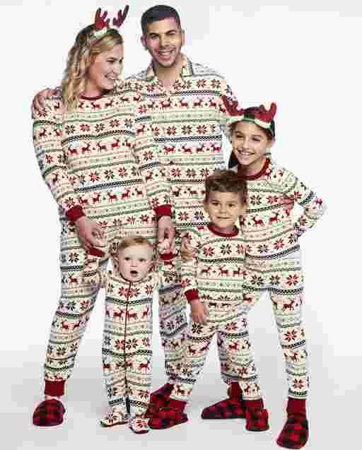 Matching Family Pajamas - Reindeer Fairisle Collection