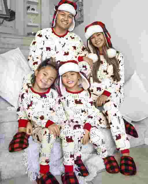 Matching Family Pajamas - Winter Forest Collection