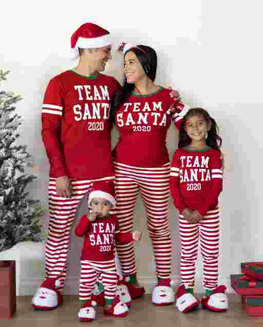 Matching Family Pajamas - Team Santa Collection