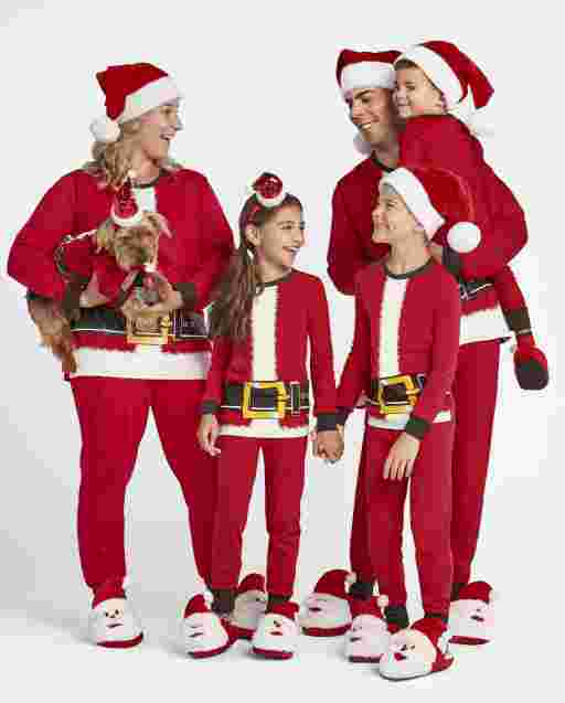 Matching Family Pajamas - Santa Suit Collection