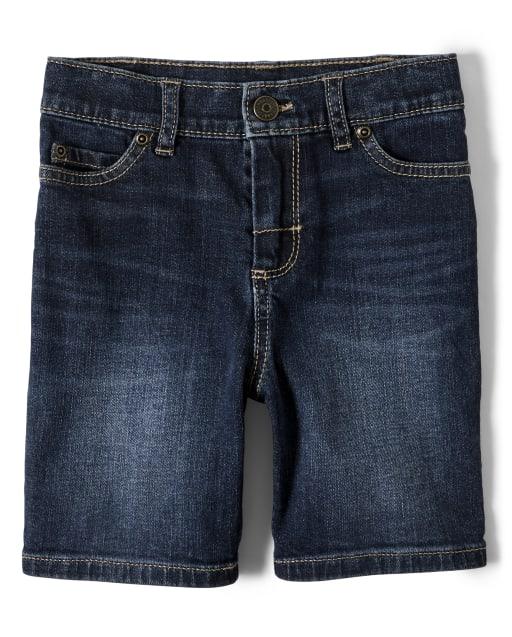 LITTLE-GUEST Baby Boys Summer Knee-Length Jeans Shorts Toddler Elastic Waist Denim Pants B201