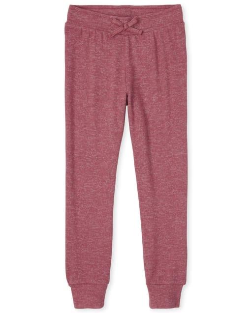 Girls Active Cozy Knit Jogger Pants