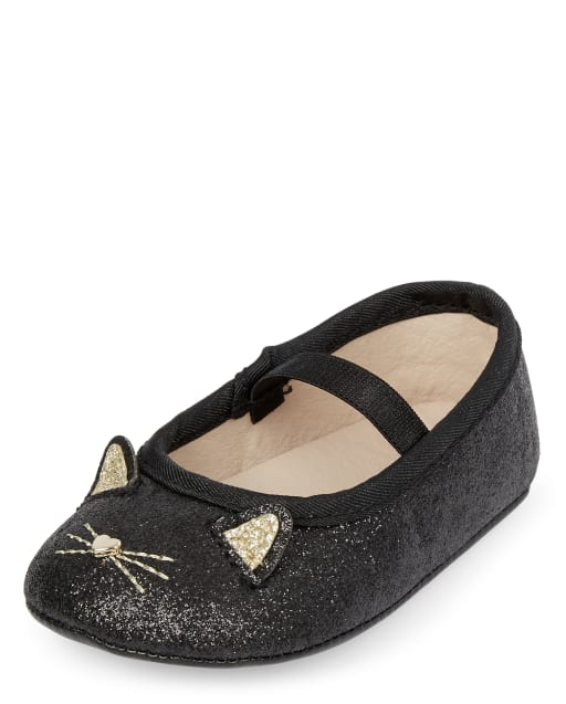 Toddler Girls/' Cacey Bow Ballet Flats Size 5 Black