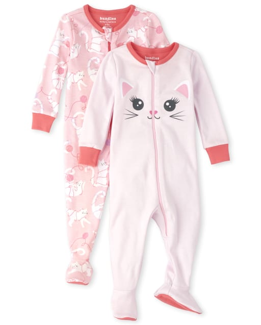 THE CHILDREN/'S PLACE GIRL 1PC LEOPARD CAT FOOTED BLANKET SLEEPER FLEECE PJS 5T