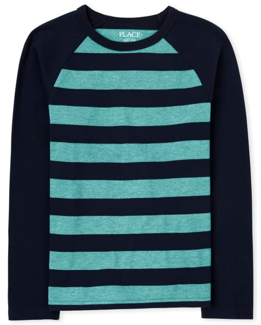 The Childrens Place Boys Big Striped Long Sleeve Hooded Shirt