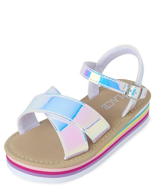 Toddler//Little Kid GINFIVE Toddler Girls Sandals Princess Flats Sandals Girls Shoes