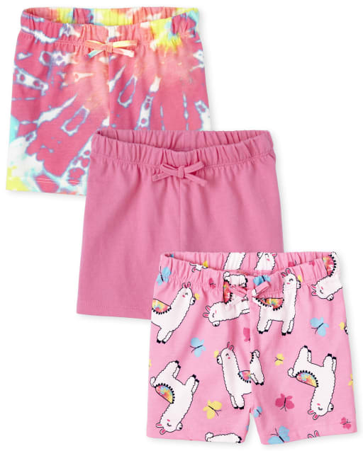 The Childrens Place Baby Girls Solid Bike Shorts