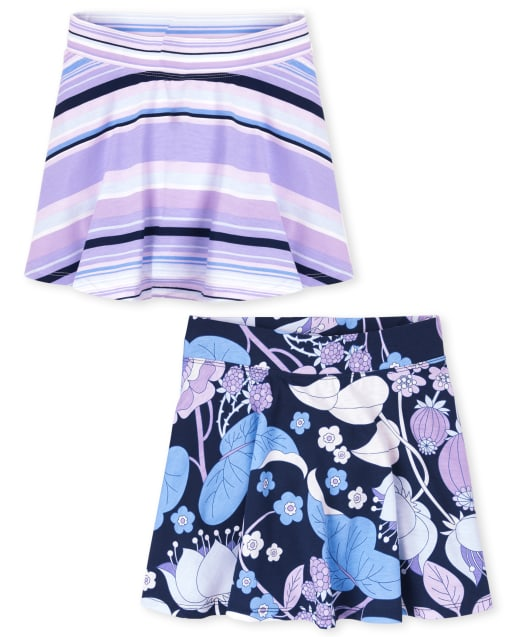 Pack of Two The Childrens Place Girls Printed Skorts