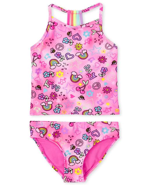 5-6 New Tankini Set; Pineapple - Size 4 Girls Children/'s Place 2 pc Swimsuit