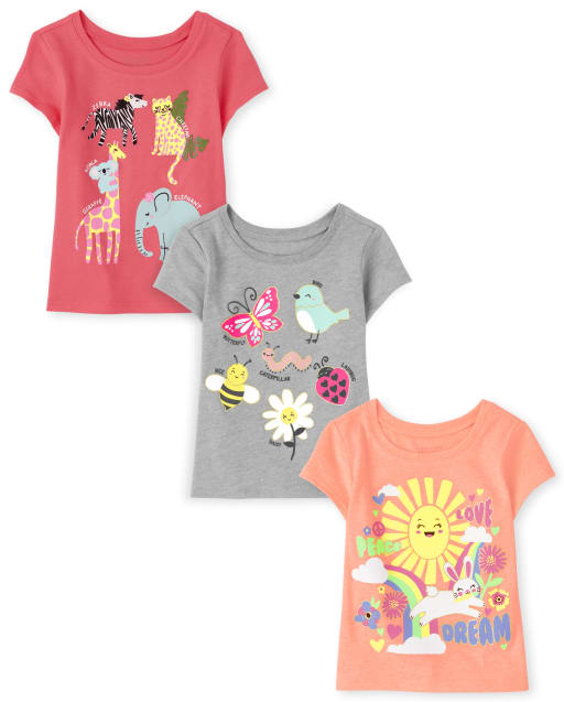 The Childrens Place Baby Girls Solid Matchable Crossback Tops