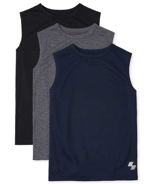 Essentials Boys Active Performance Muscle Tank Tops
