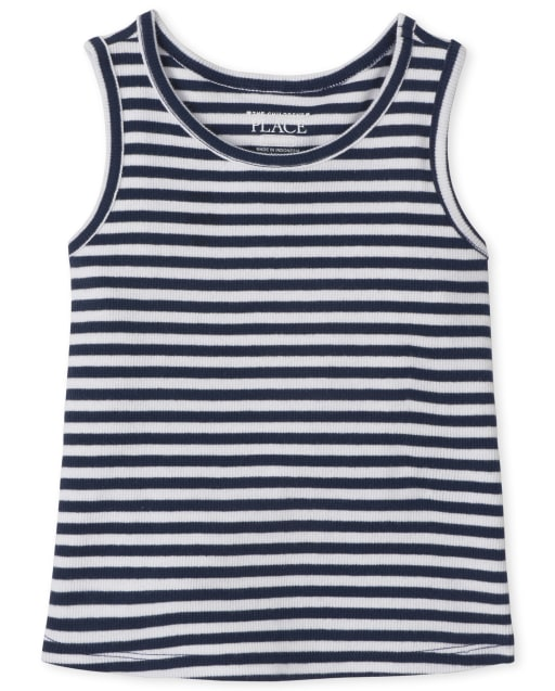 The Childrens Place Girls Stripe Tank Top