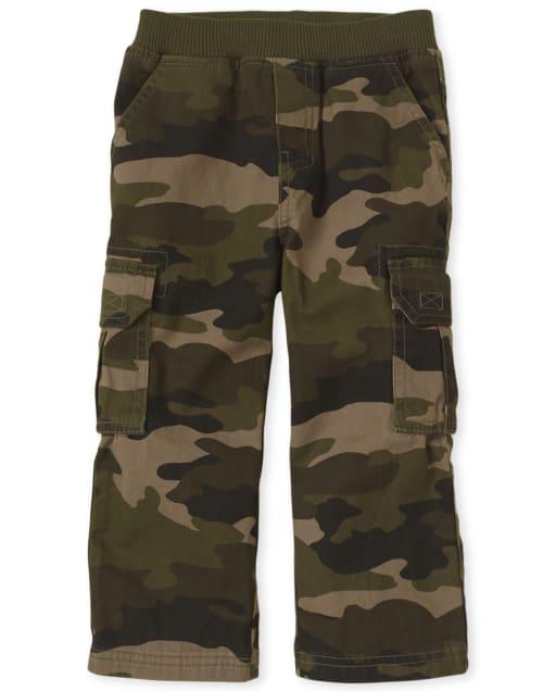 Pantalones Tipo Cargo Tipo Chino Con Tejido Uniforme Para Bebes Y Ninos Pequenos