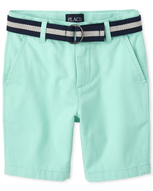 The Childrens Place Boys Belted Chino Shorts