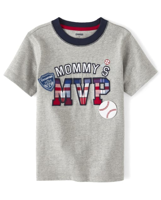 Boys Short Sleeve 'Mommy's MVP' Patch Top - Opening Day