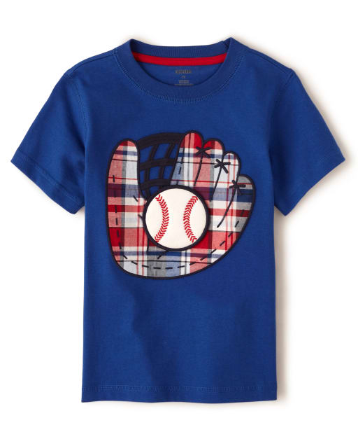 Boys Short Sleeve 'Home Run!' Baseball Patch Top - Opening Day