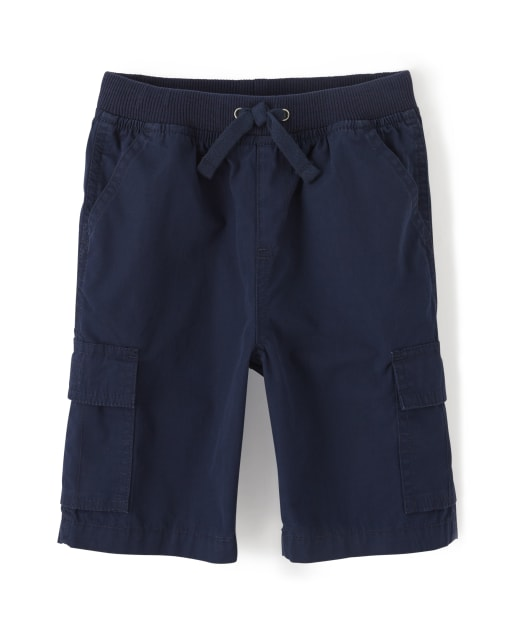 Boys Woven Pull On Cargo Shorts - Opening Day and Whale Hello There