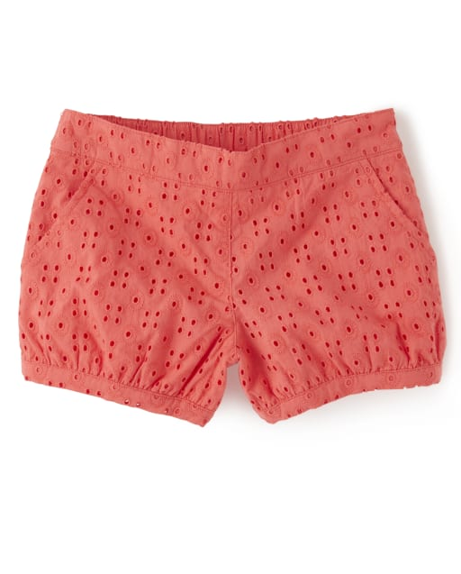 Girls Eyelet Pull On Shorts - Fairy Blossom
