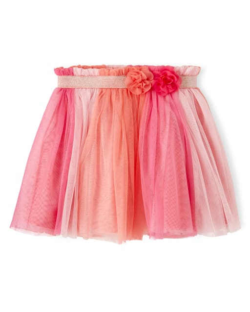 Girls Colorblock Tulle Skirt - Fairy Blossom