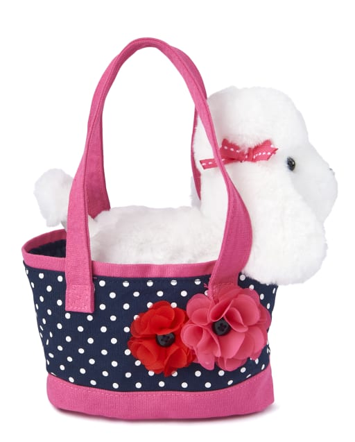Girls Dot Print And Puppy Bag - Playful Poppies