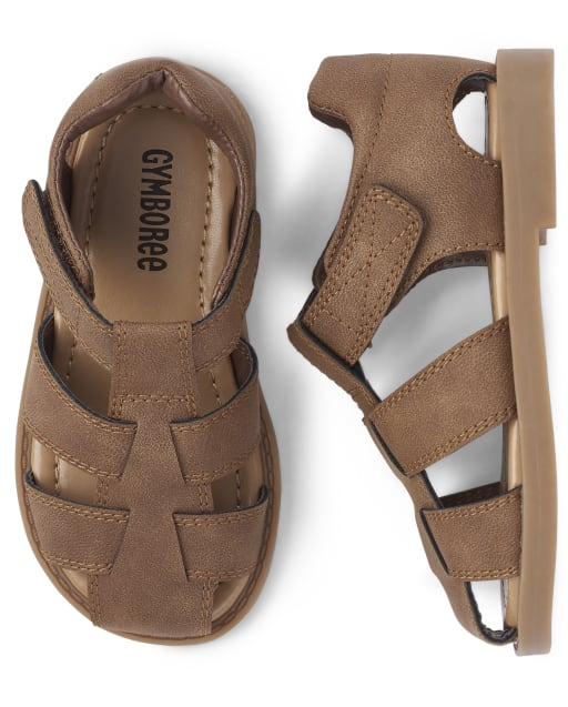 Boys Faux Leather Sandals - Spring Jubilee
